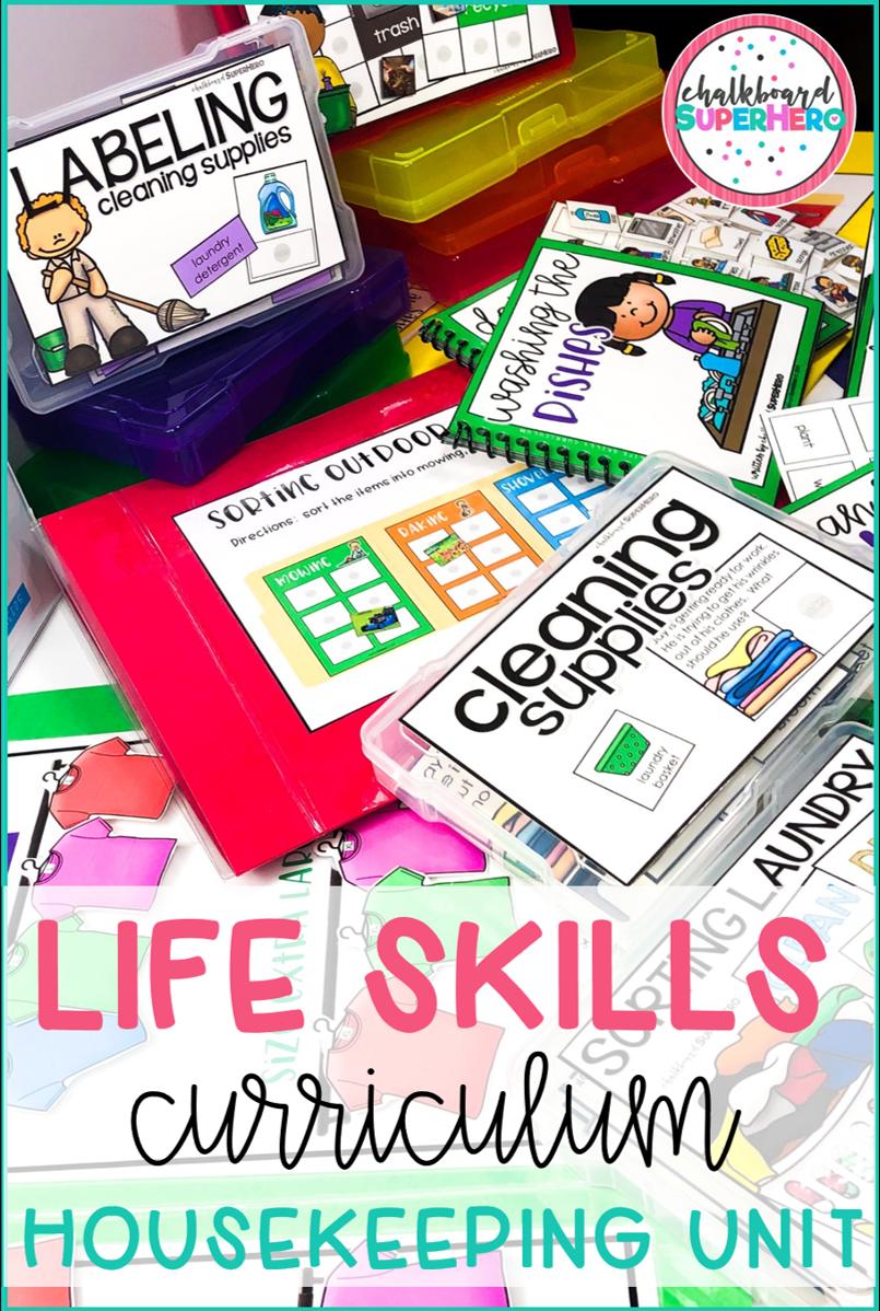 Functional Life Skills Curriculum Housekeeping In 2020 Life Skills Curriculum Functional Life Skills Life Skills