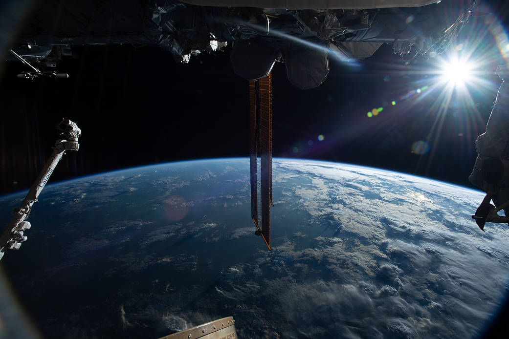 Good Morning From The Space Station Nasa Pictures Nasa Images Space Pictures