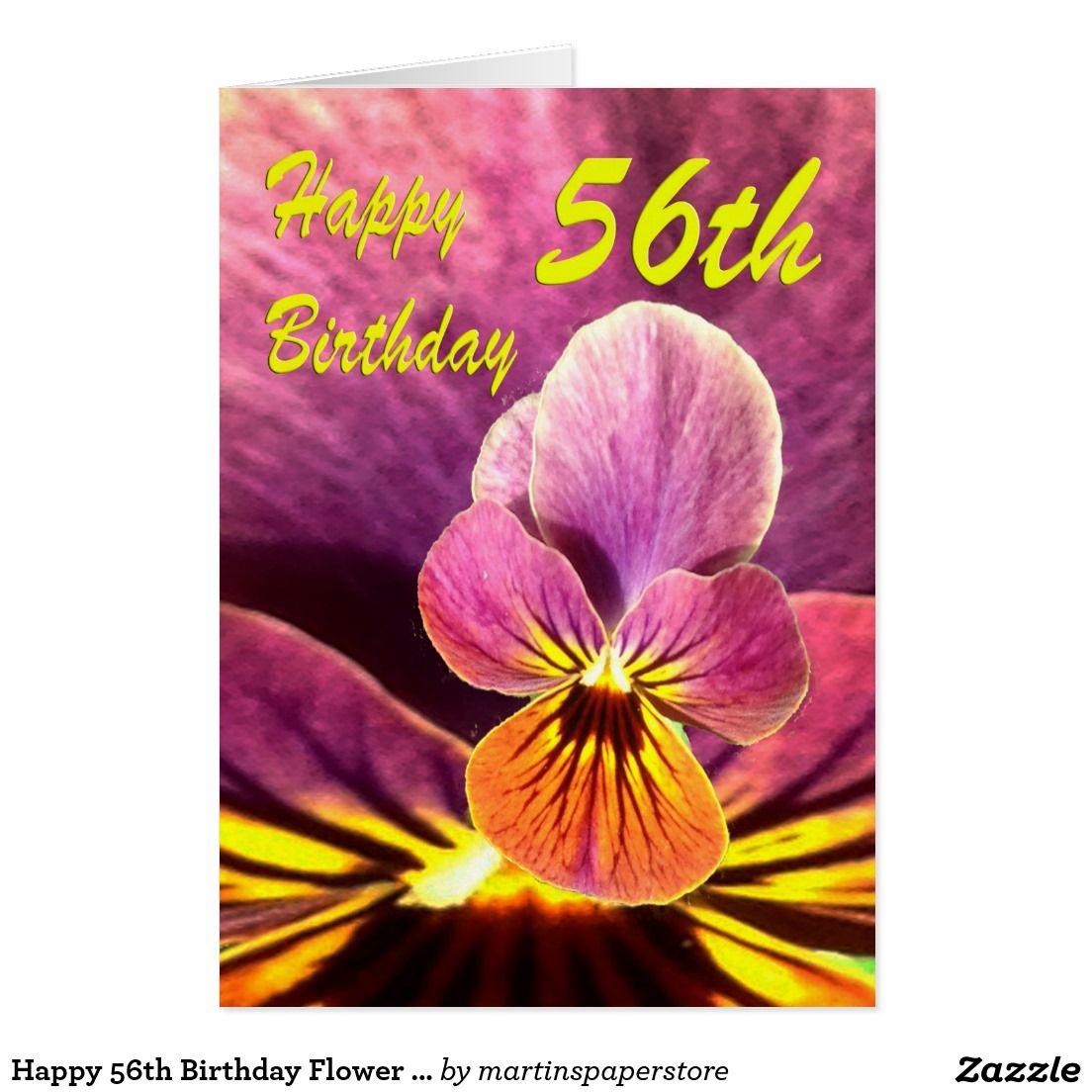 Happy 56th Birthday Flower Pansy