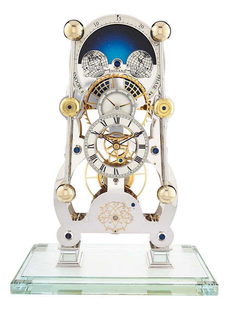 Sinclair Harding England John Harrison Clock Skeleton Clock