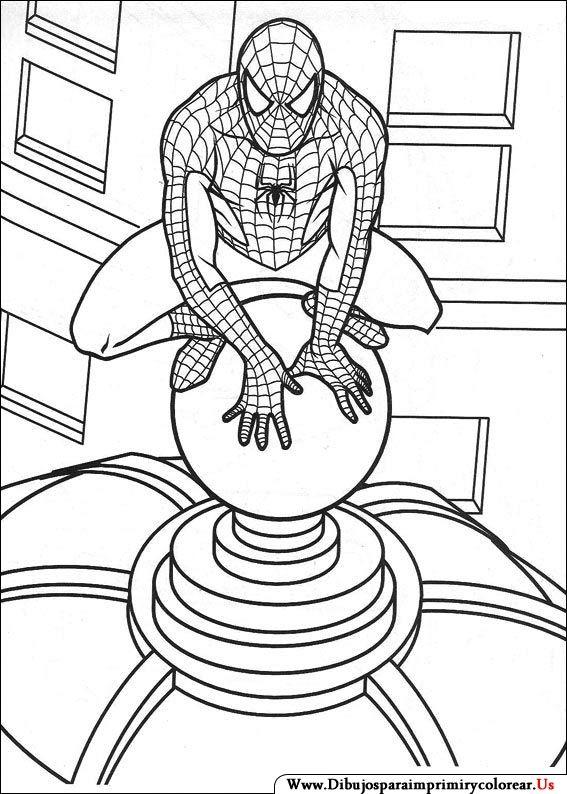 Dibujos de Spiderman para Imprimir y Colorear | Maty | Pinterest ...