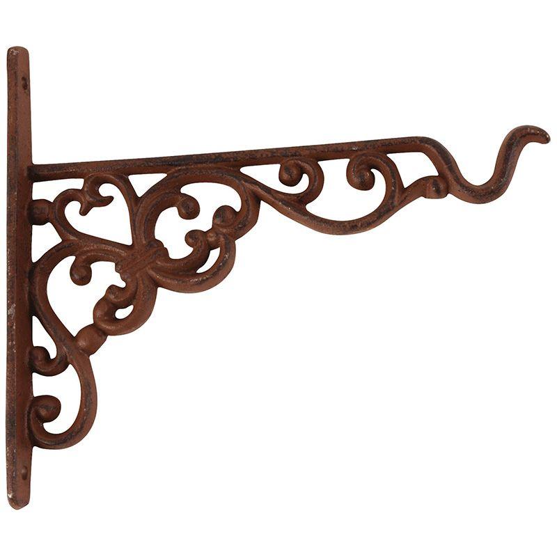 Large Hanging Lattice Basket Planter Rustic Brown Wrought Iron Metal