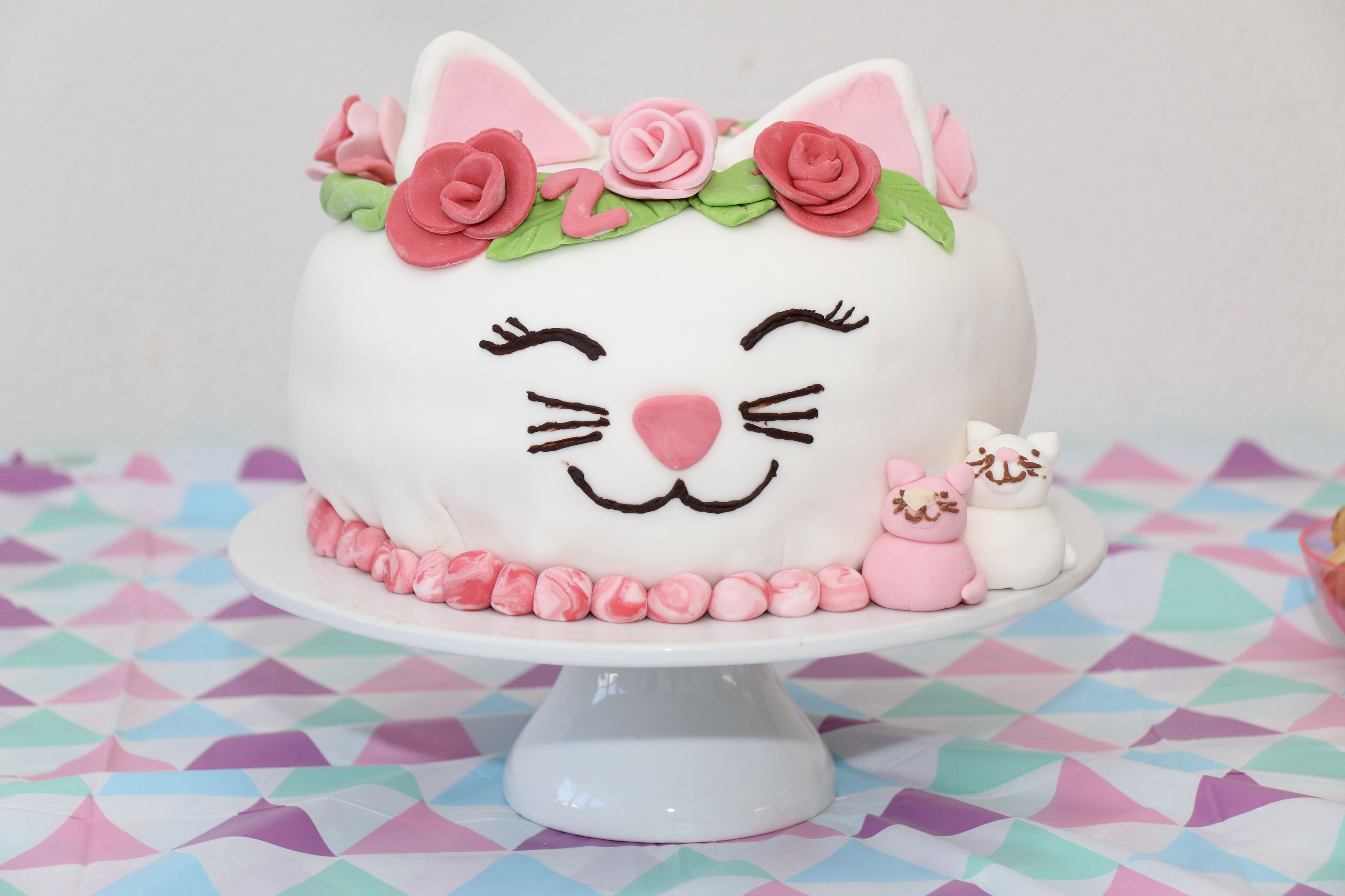 Swell Catcake Made For My Daughters 2Nd Birthday She Loves Cats Funny Birthday Cards Online Ioscodamsfinfo