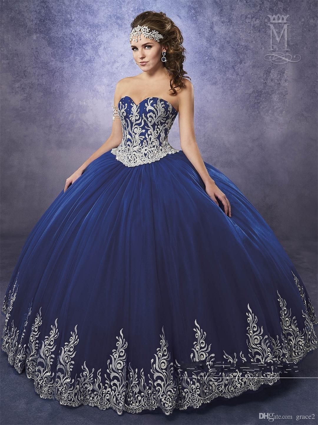 Dark Burgundy Quinceanera Dresses 2017 Mary s with Sheer Bolero And Lace Up  Back Appliques Royal Blue Sweet 16 Dress Custom Made Vestidos De 15 Anos ... 95c784632717