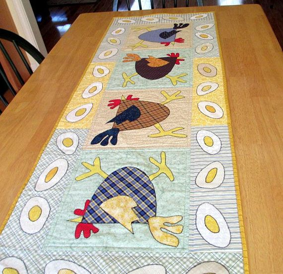 This Table Runner Is Made From A Pattern By Mad Creek Designs Called  Scrambled Eggs. It Is 50 1/2 Long By U2026 | Pinteresu2026
