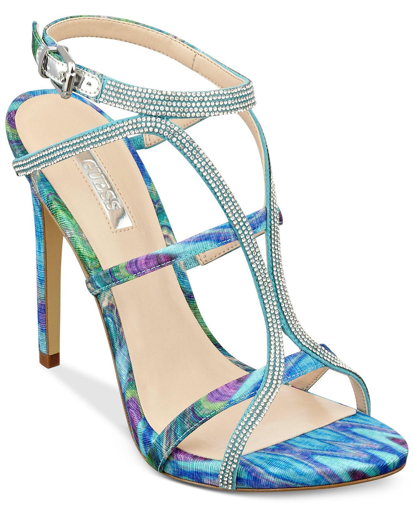 GUESS Women's Adalee Rhinestone Dress Sandals - Sandals - Shoes - Macy's - GUESS Women's Adalee Rhinestone Dress Sandals - Sandals - Shoes