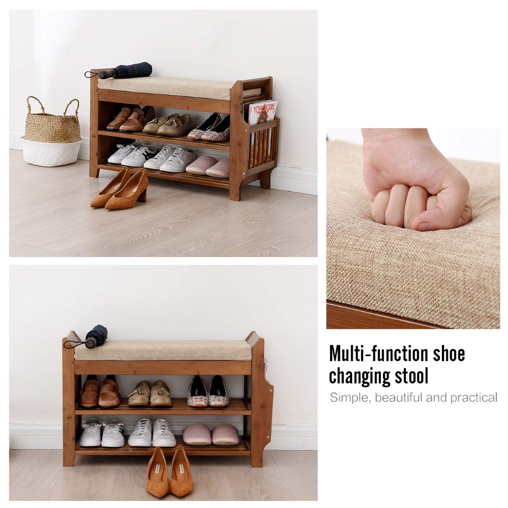 Pin By Daiva Lauciuviene On Organize In 2020 Bench With Shoe Storage Bamboo Shoe Rack Shoe Rack