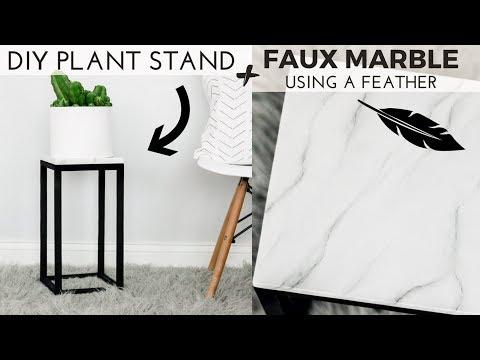 DIY Modern Plant stand + DIY White Marble Effect + EASY Plant stand #diyplantstand DIY Modern Plant stand + DIY White Marble Effect + EASY Plant stand - YouTube #groundturkeytacos