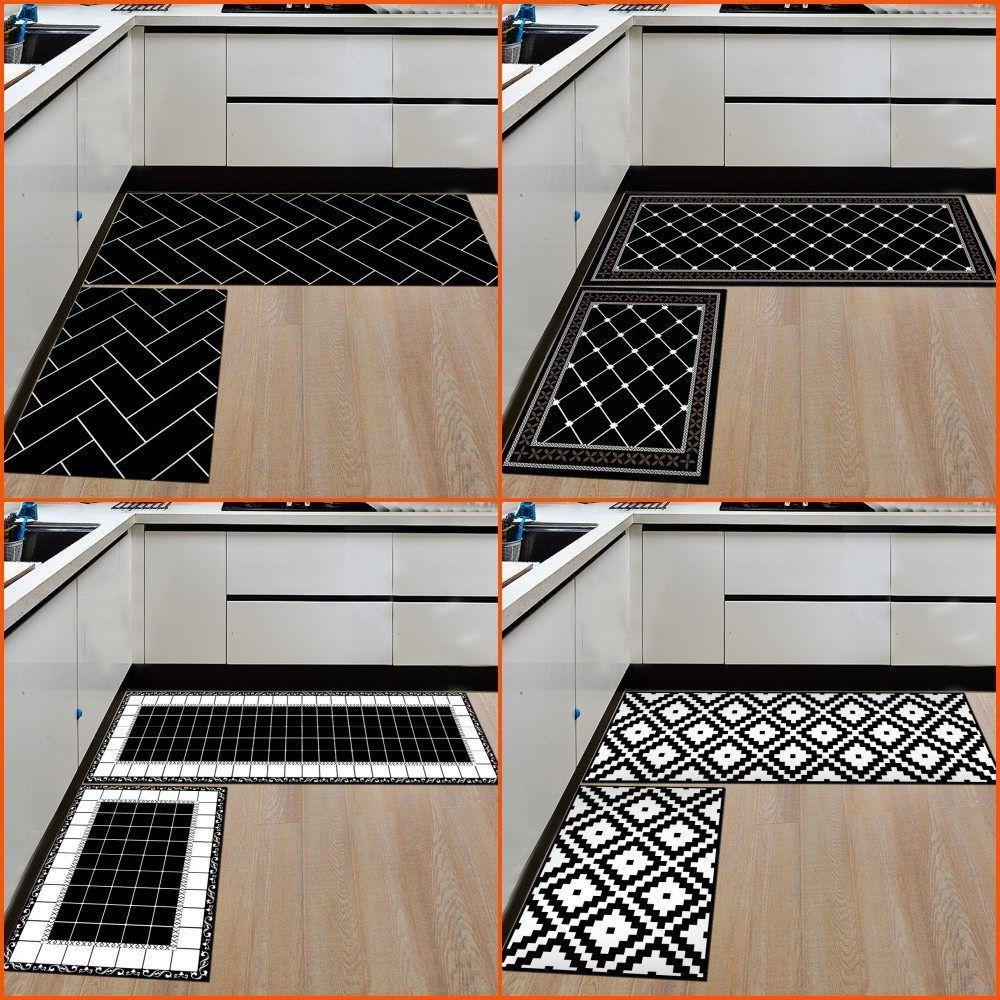 Modern Kitchen Mat Doormat Non-Slip Kitchen Carpet / Bath Mat Home