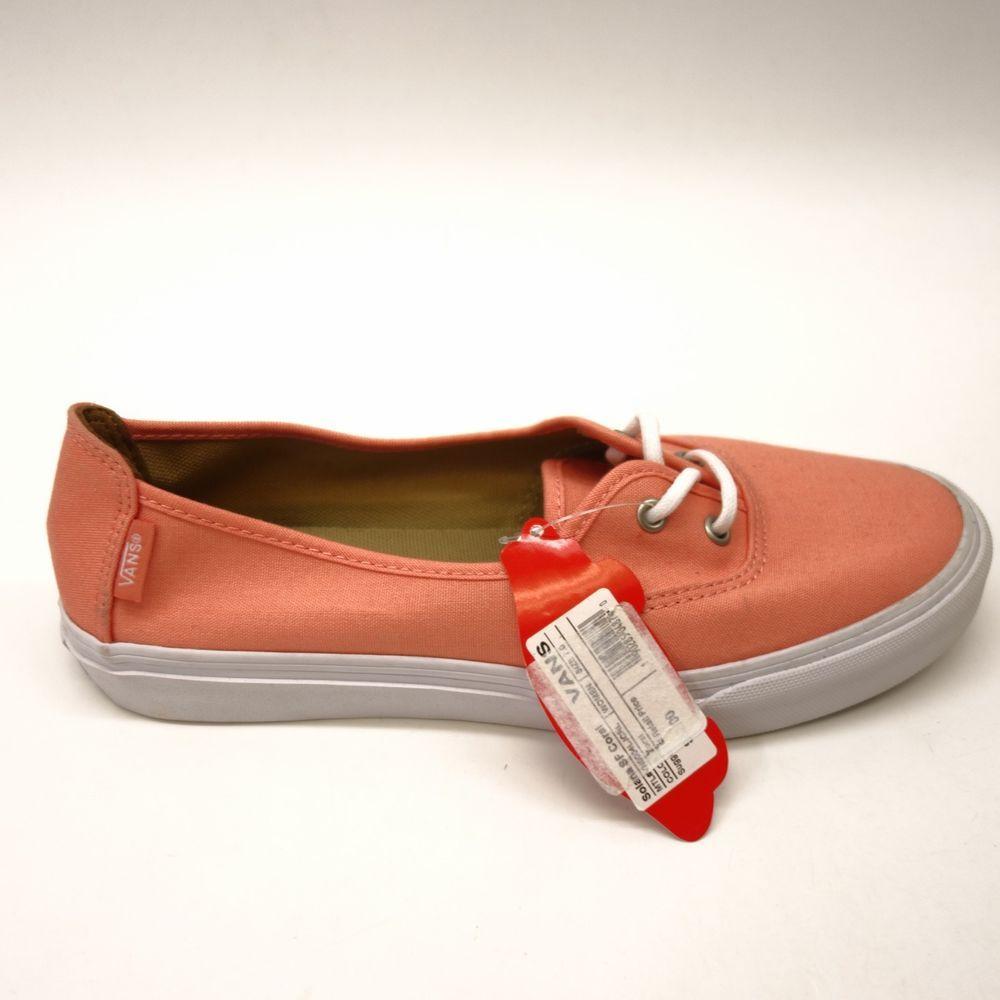e181c24fb25799 New Vans Womens Off The Wall Coral Surf Siders Rata Lo Hemp Shoes Flats Size  7  VANS  Comfort