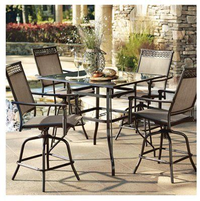 Courtyard Creations Sts5x19 5 Piece Valencia Hi Dining Set By Courtyard Creations 749 37 Great For Entertaining For Pa Bar Height Patio Set Patio Set Patio