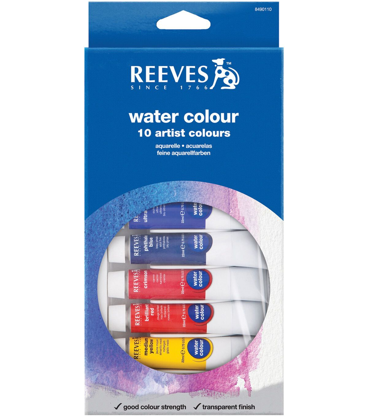 Reeves Water Colour Paints 22ml 10 Pack Assorted Colors In 2020