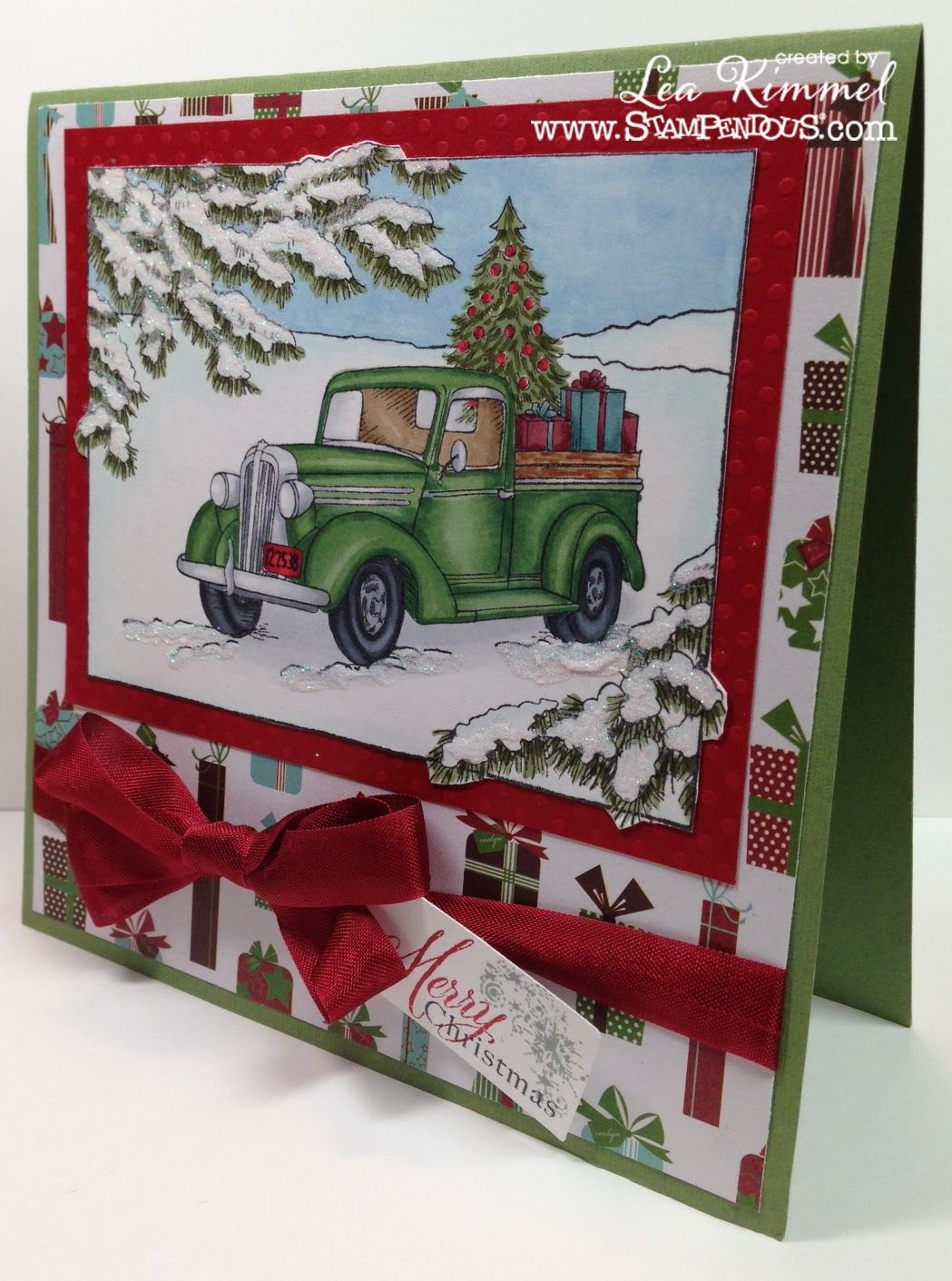 Image result for cards made with stampendous truck of