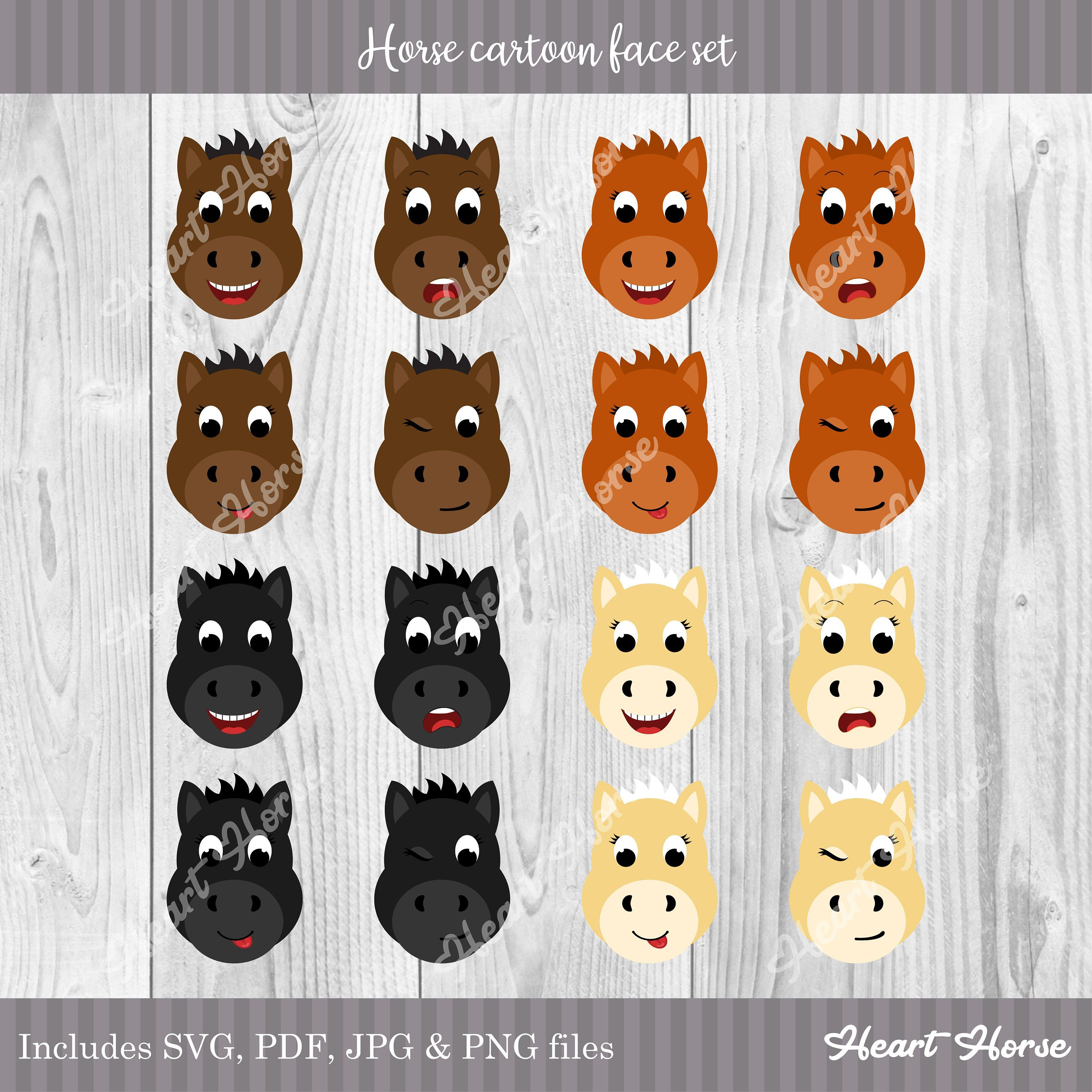 Pin By Vanessa Aspin On Painting Horse Cartoon Horse Face Animal Clipart