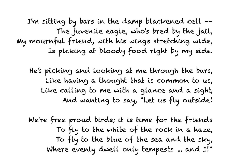 Alexander Pushkin, Prisoner: analysis of the poem 12