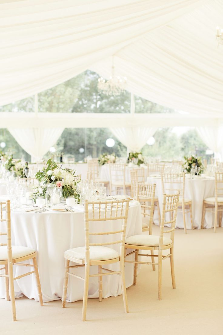 Jesús Peiró Gown for a Pastel Classic at Home Marquee Wedding ...