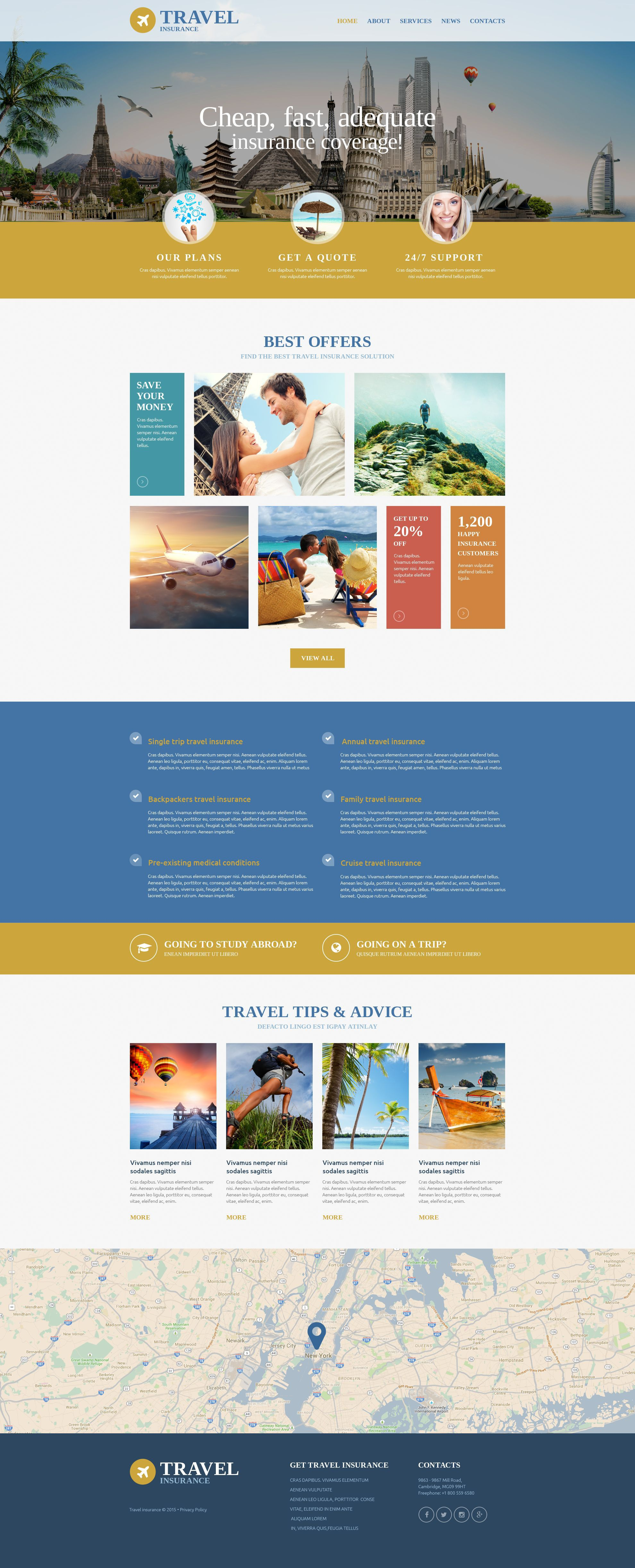 Insurance Website Template Travel Insurance Travel Insurance