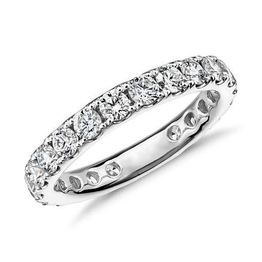 e53fa49a4c5c Riviera Pavé Diamond Eternity Ring in 18k White Gold - H   VS2 (1.5 ...