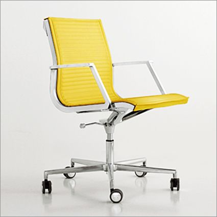 Luxy Nulite Office Chair On Castors Ribbed Leather By R Submitted Leila