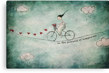 In the pursuit of happiness Canvas Print
