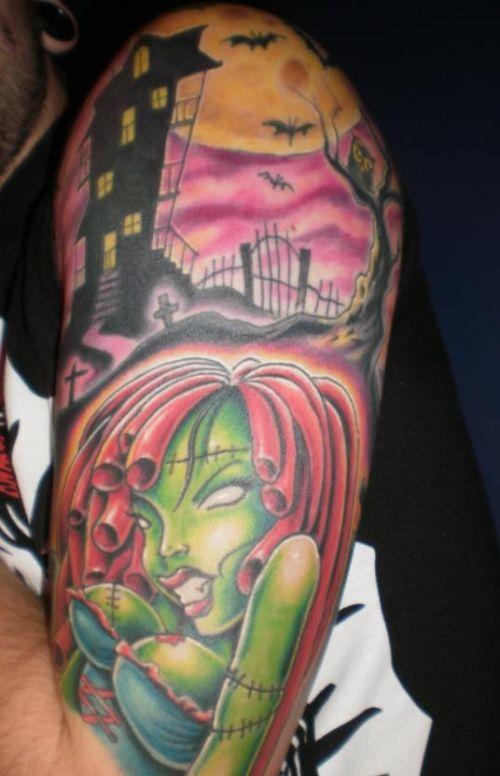 Zombie Helf Sleeve Tattoo Design For Men Http Heledis Com The Attractiveness Of Half Sleeve Tattoo For Half Sleeve Tattoo Zombie Tattoos Tattoo Sleeve Men