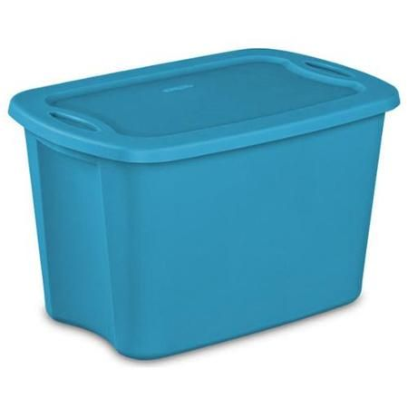 9 Pack Sterilite 18201009 Plastic Latching 10 Gallon Storage Container Tote Box Large Plastic Storage Bins Storage Bins With Lids Plastic Storage Bins