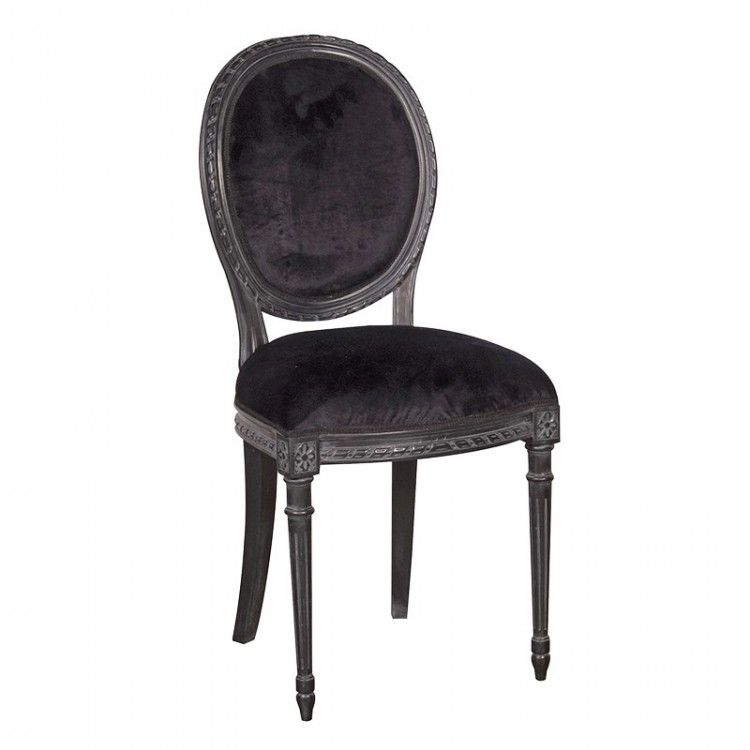 Amberleigh Oval Black Dining Chair
