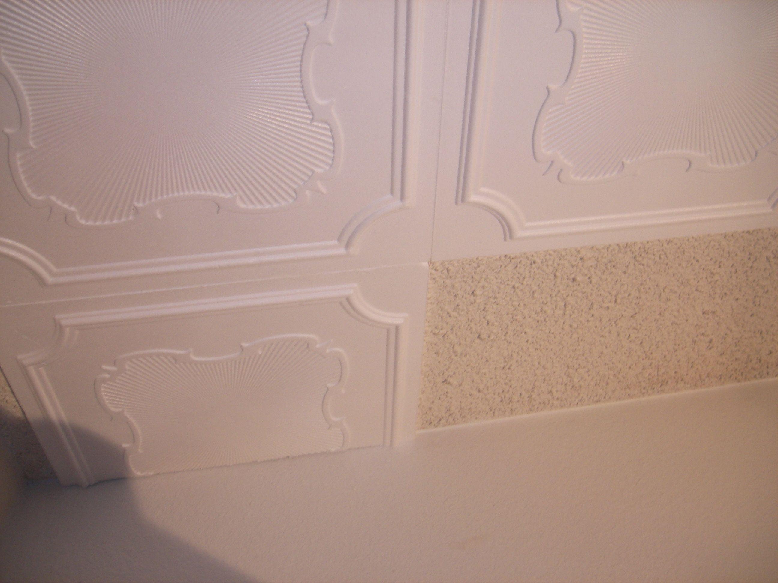 Styrofoam ceiling tiles so easily installed over popcorn ...