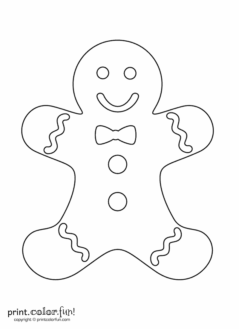 Gingerbread man | Print. Color. Fun! Free printables, coloring pages, crafts, puzzles & cards to print