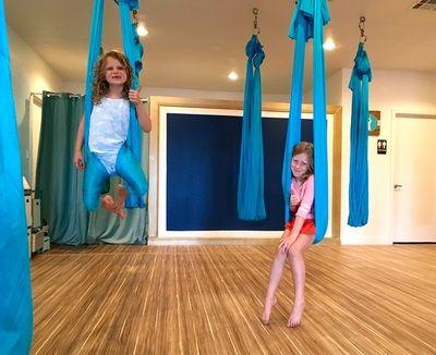 aerial yoga for kids  families sensory education yoga