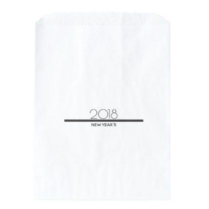 minimalist new years celebration favor bag minimal gifts style