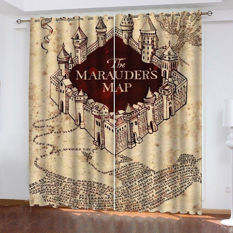 Harry Potter The Marauder S Map 3d Living Room Shower Curtains