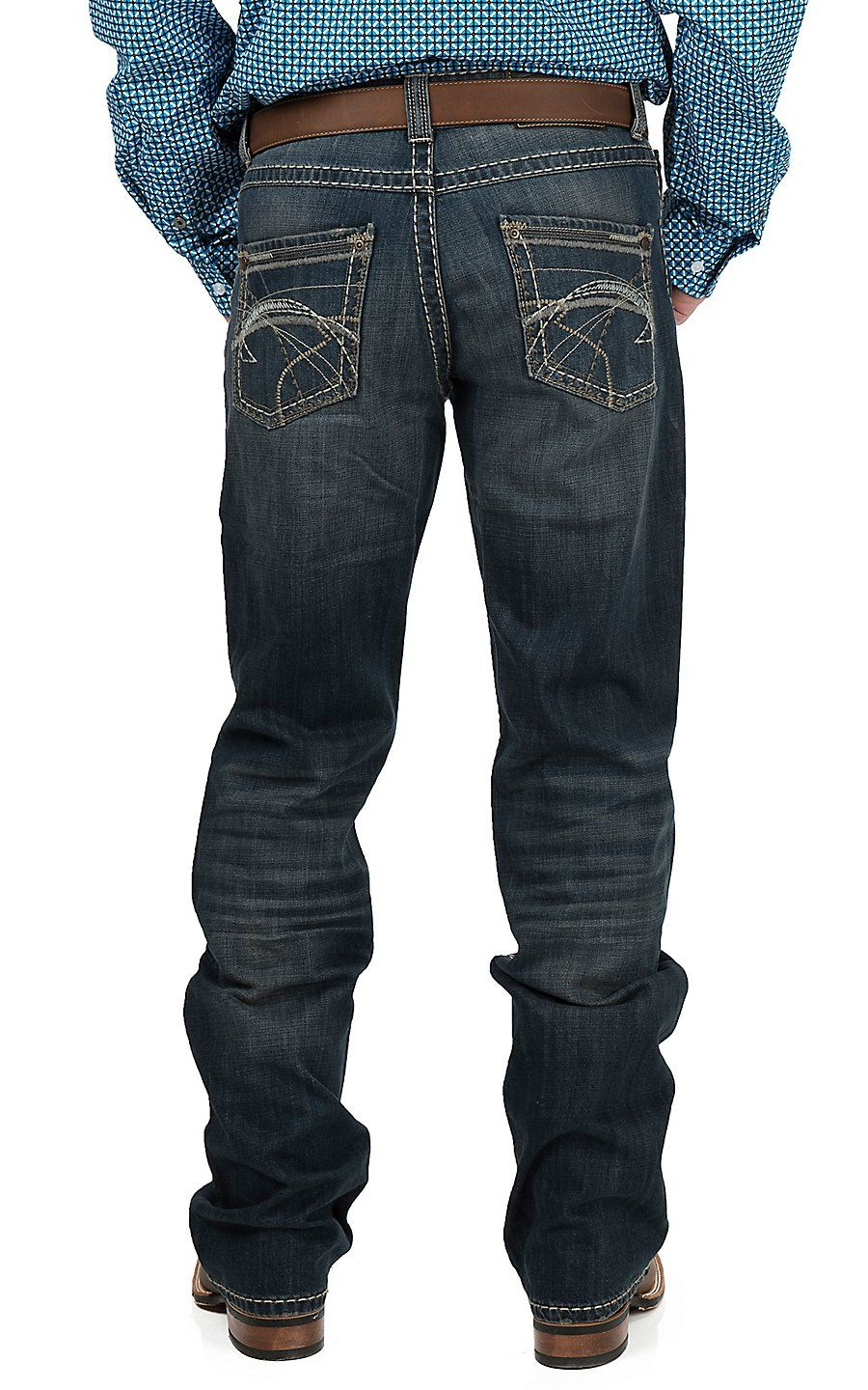 Hooey mens blue cut out rodeo wallet pants style and