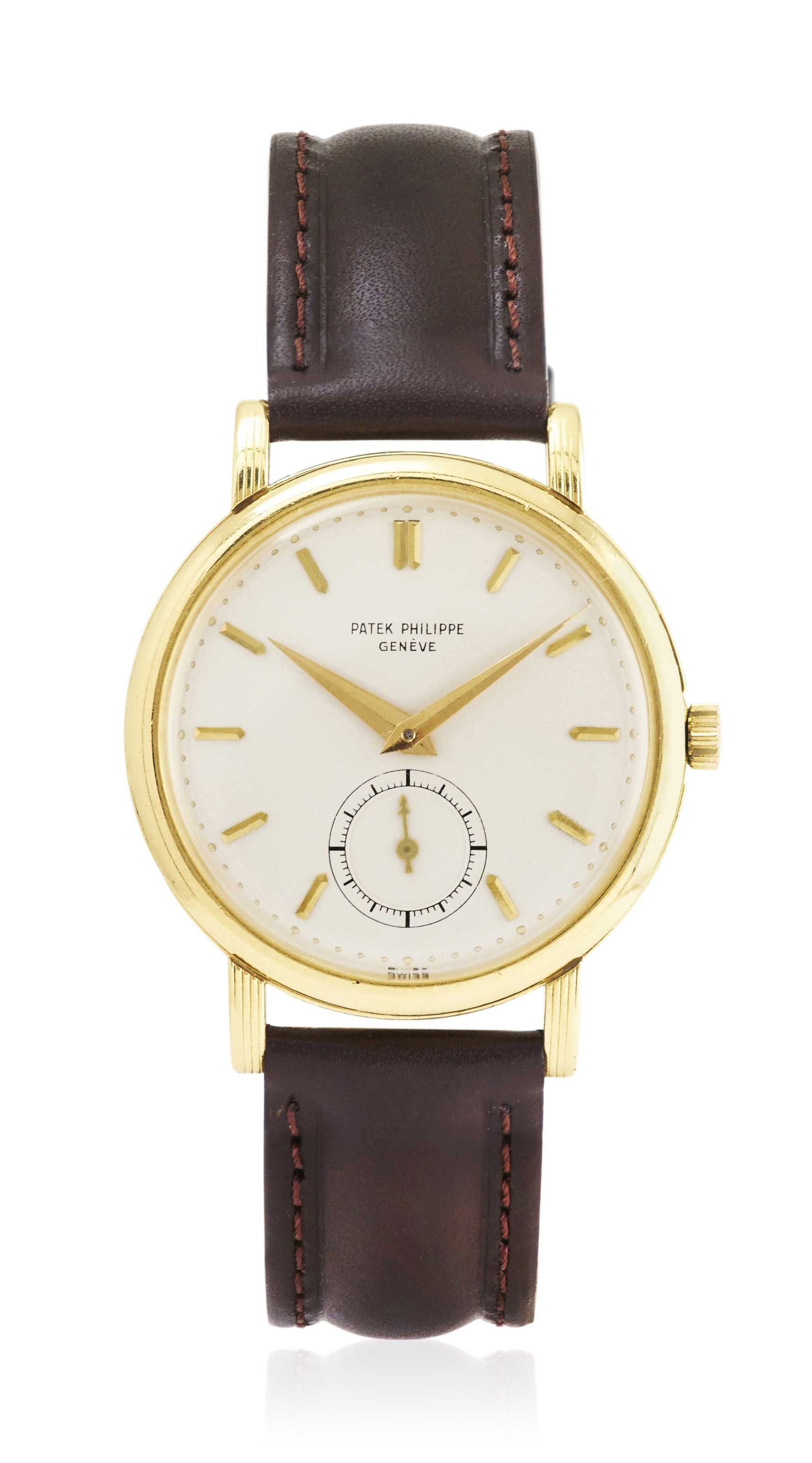 Patek Philippe oversized Calatrava, reference 2511, 18k yellow gold.
