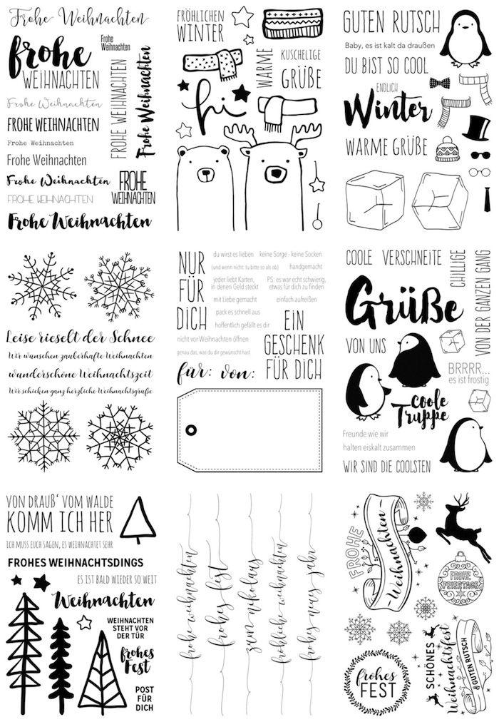 9 Neue Winter Weihnachtliche Klartext Stempelsets Von Www Danipeuss De Scrapbooking Klartextstem Weihnachten Schrift Weihnachtsbuchstaben Weihnachtsstempel