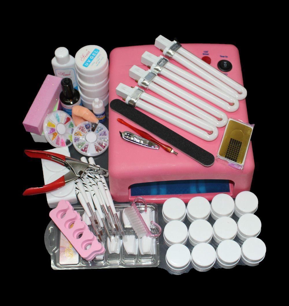 Em 91 Fr S Nail Art Tool Full Set 12 Color Uv Gel Kit Brush