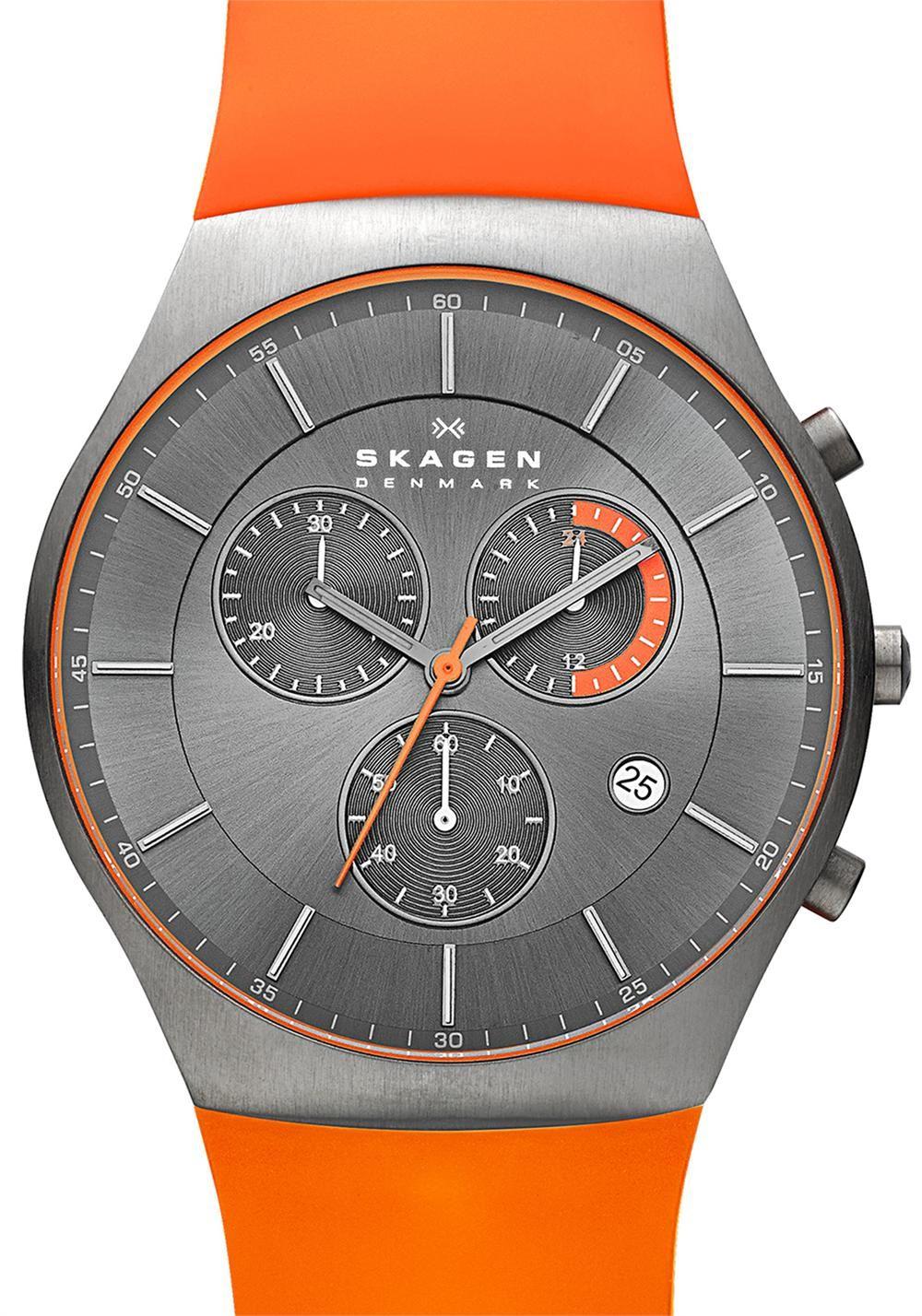 prezzi sito autorizzato come serch Skagen SKW6074 Balder Titanium Chrono Orange | New Additions ...