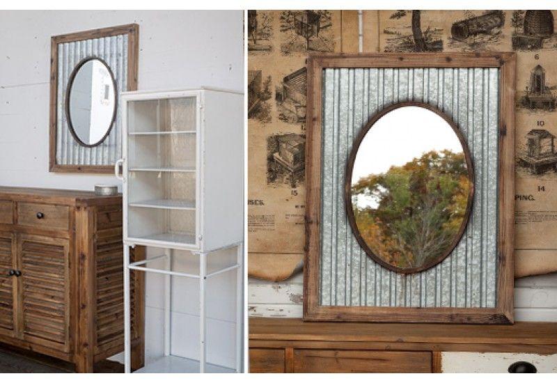 Framed mirror tin roof mirror oval framed mirror
