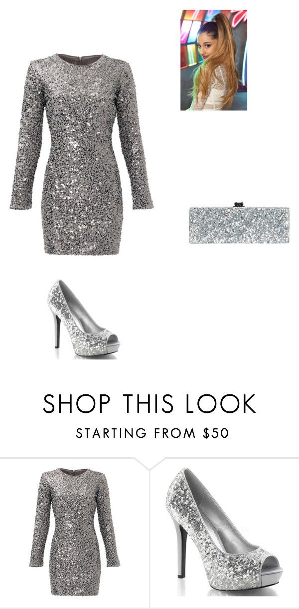 """silver glitter"" by dancingdollbella on Polyvore featuring Slate & Willow, Edie Parker, women's clothing, women, female, woman, misses and juniors"