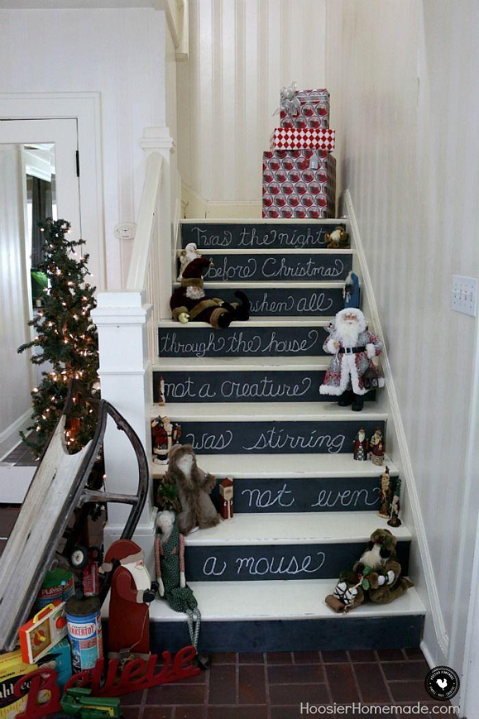 Vintage Christmas Decorating Twas the Night Before Christmas - christmas decorating ideas