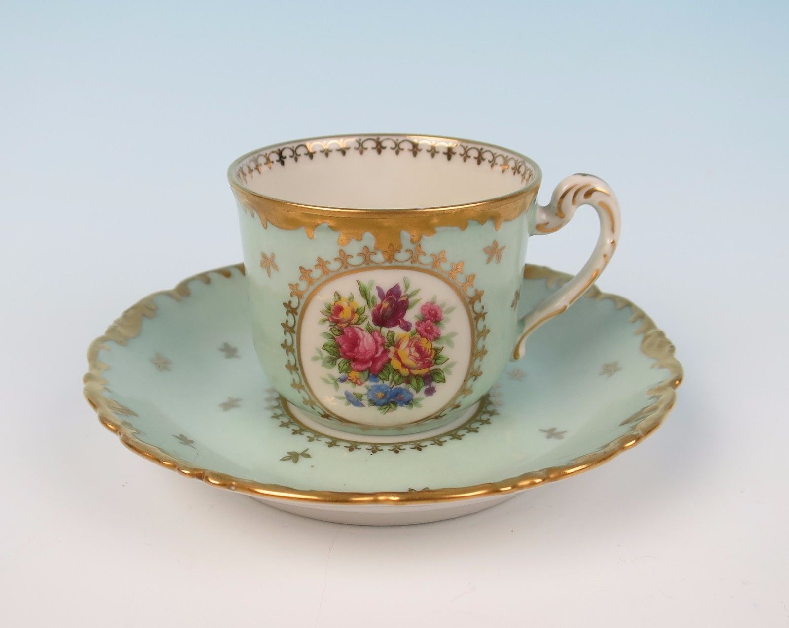 Elite Limoges Porcelain Tea Set Tray Teapot Cup U0026 Saucer Bawo Dotter French  Gold | Pottery