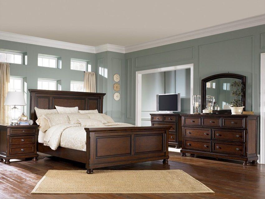 ashley traditional bedroom furniture elegance porter collection b69757 traditional bedroom set dark wood furniture brown furniture porterhouse for the