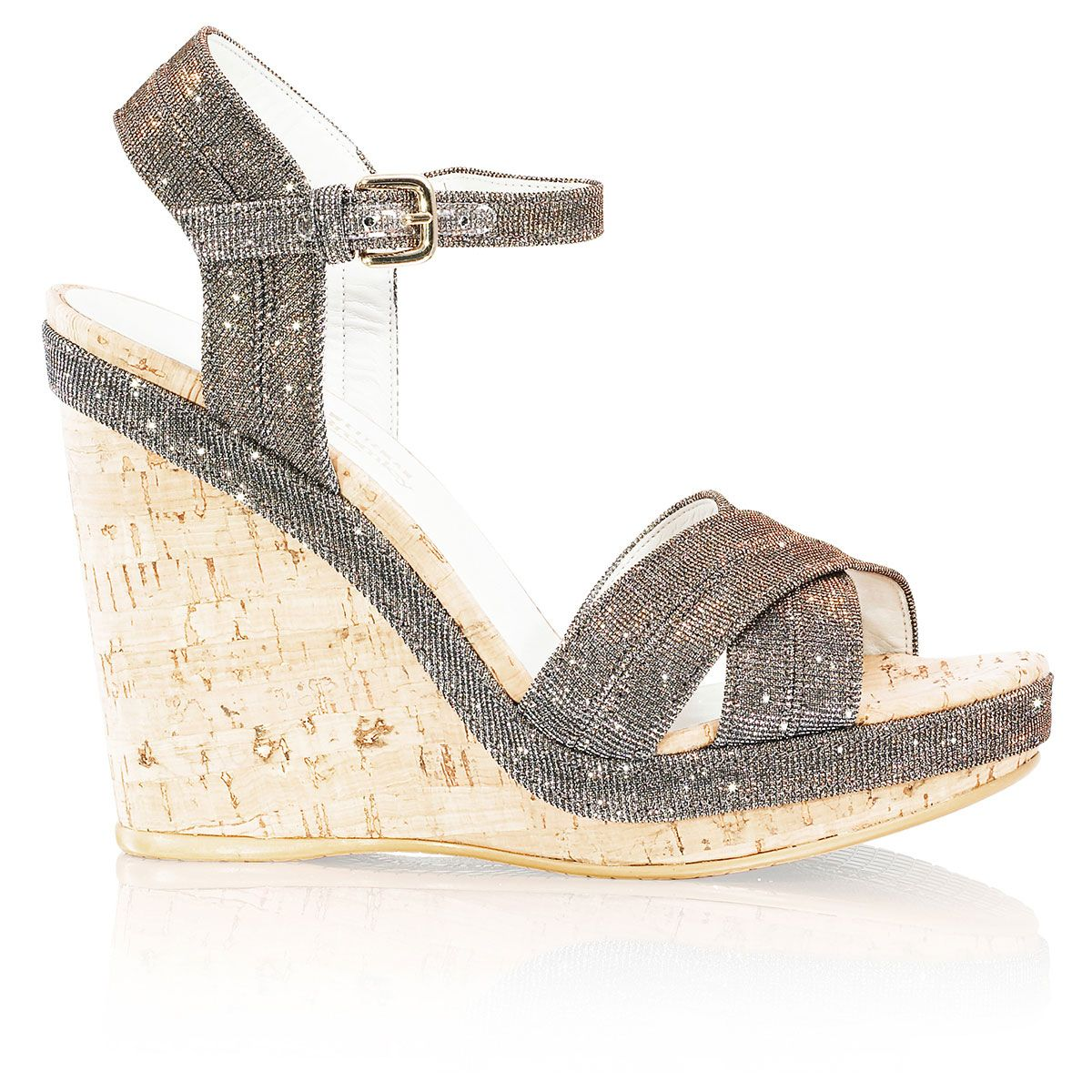 Womens sandals russell and bromley - Kate S Minx In In A Shimmering Glitter Fabric At Russell Bromley