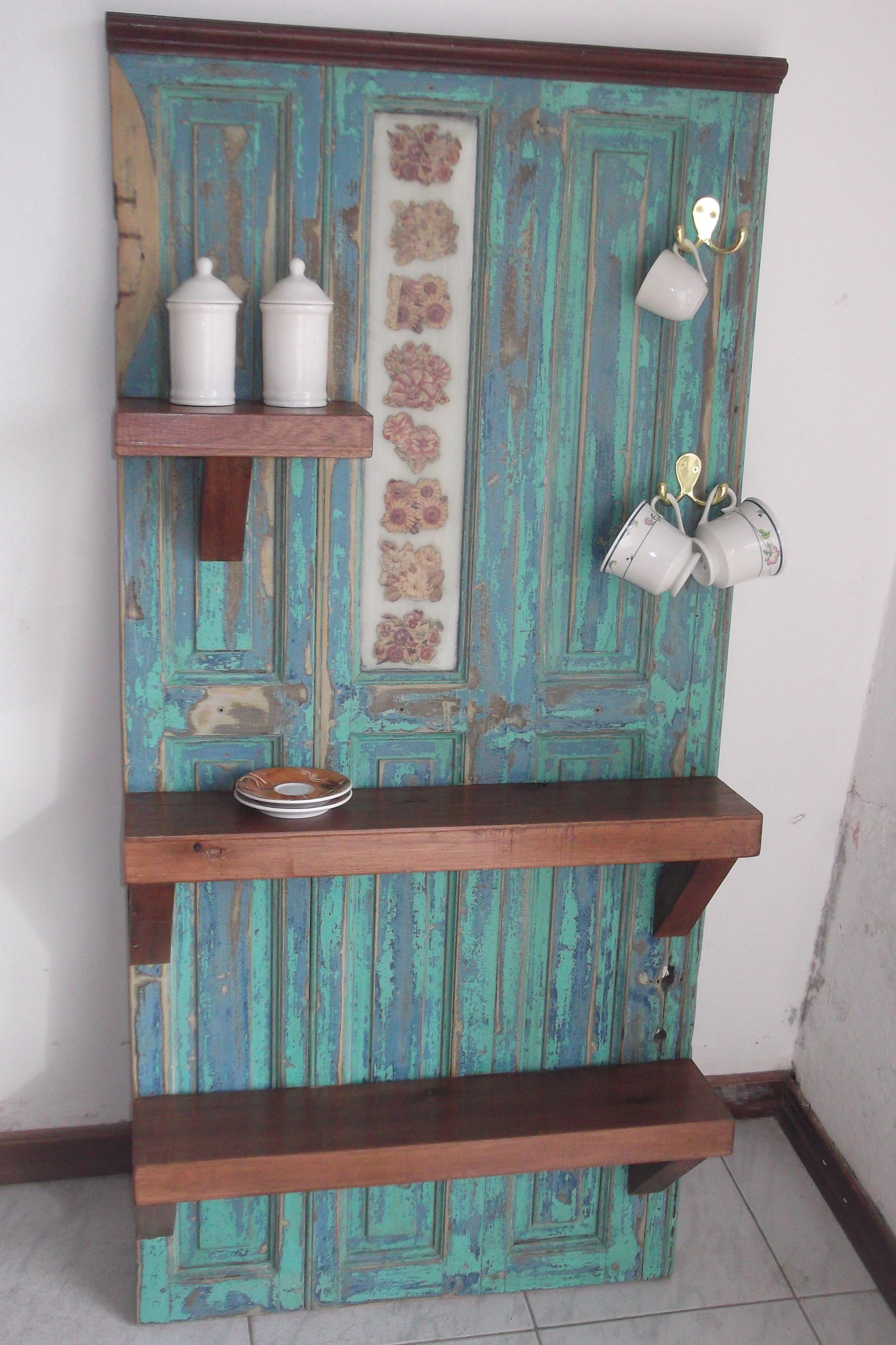 Muebles de cocina hecho con una puerta antigua.   Home   Pinterest ...