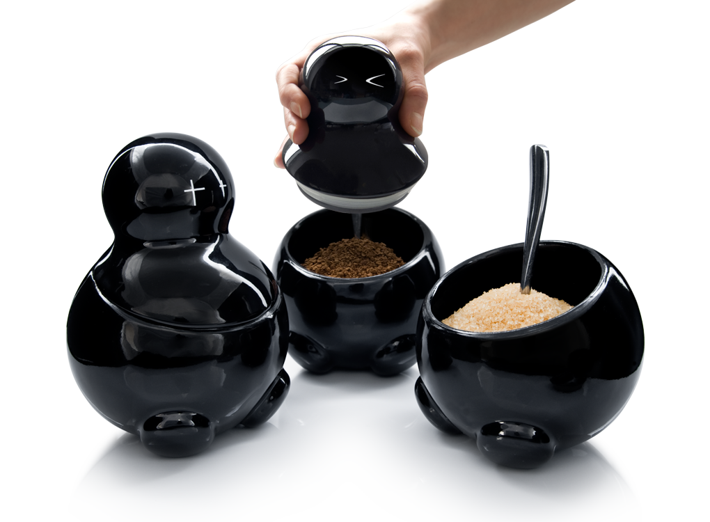 Lex Seth Carrie Black Tea Sugar And Coffee Storage Jars By Thabto