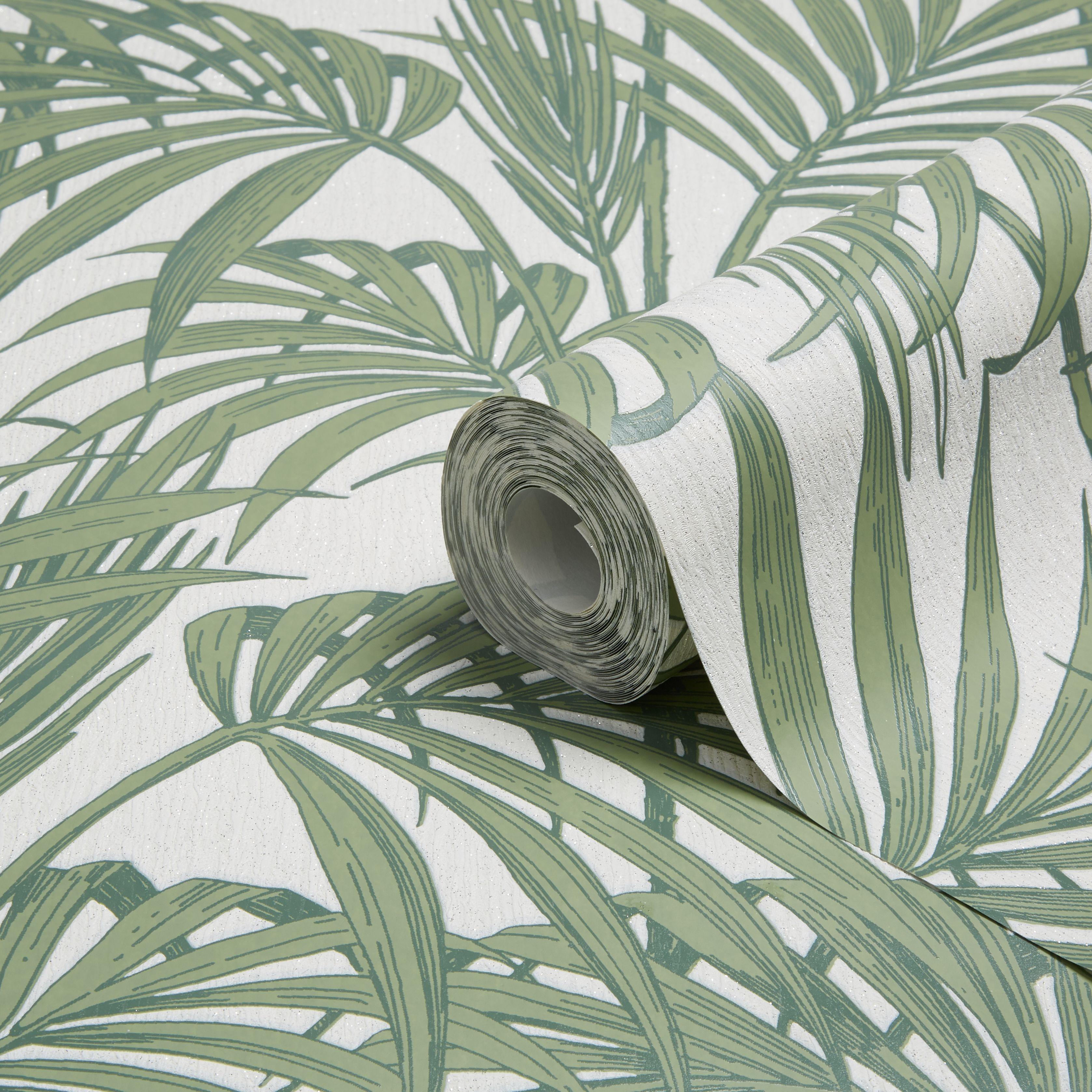 Graham & Brown Julien Macdonald Honolulu Palm Green