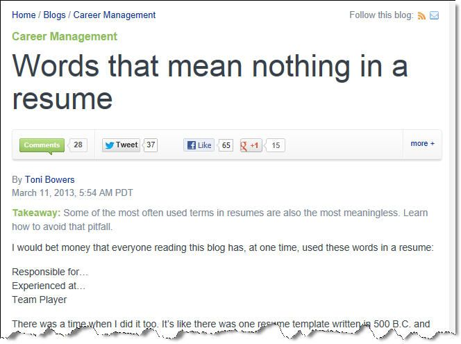 Words that mean nothing in a resume Takeaway Some of the most - words to avoid in resume