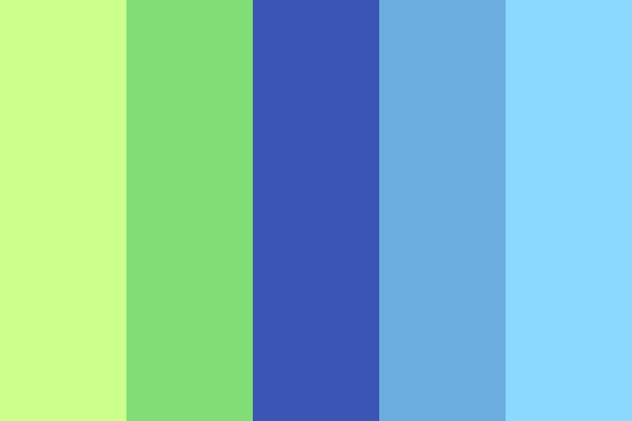 Blue Green Aesthetic Color Palette
