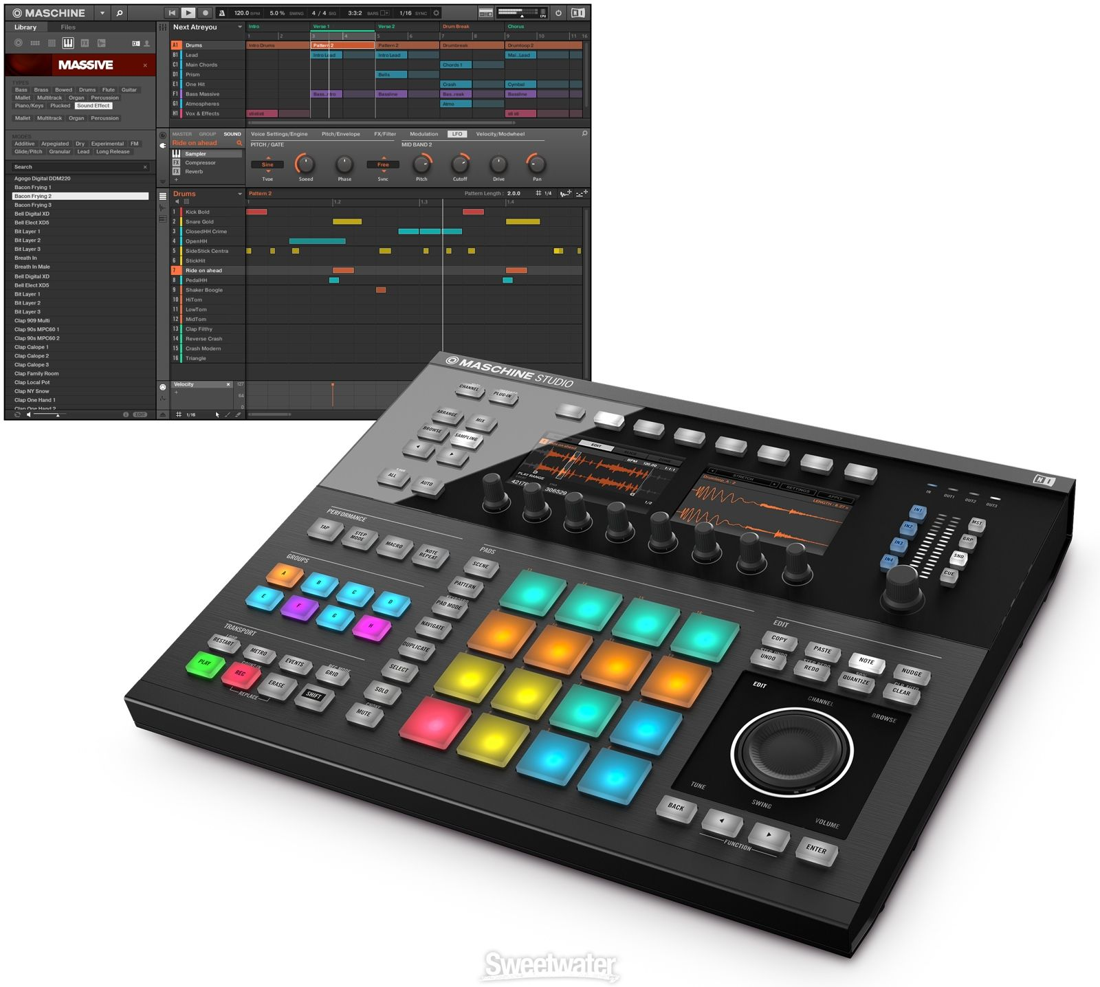 Native Instruments Maschine Mk3 Production And Performance System With Komplete 12 Select Native Instruments Maschine Instruments