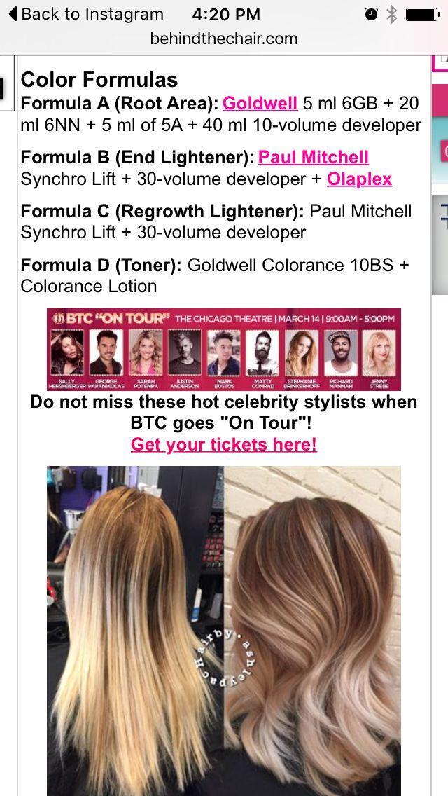 a015d79358 Matrix Color, Hair Color Formulas, Bayalage, Hair Tutorials, Ombre,